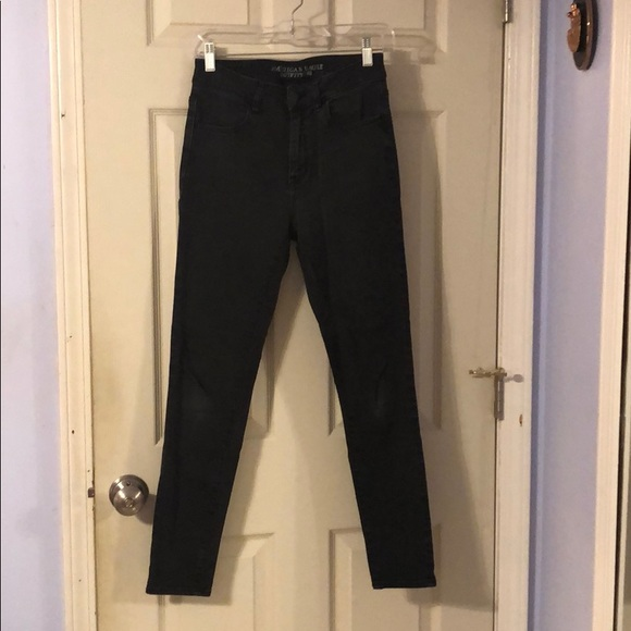 American Eagle Outfitters Denim - Black Super Super Stretch Black Jegging